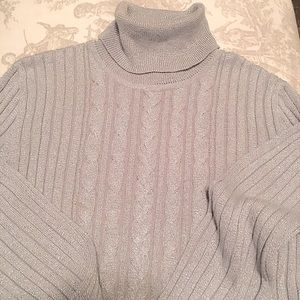 New York & Co.  Silver turtle neck sweater Size M